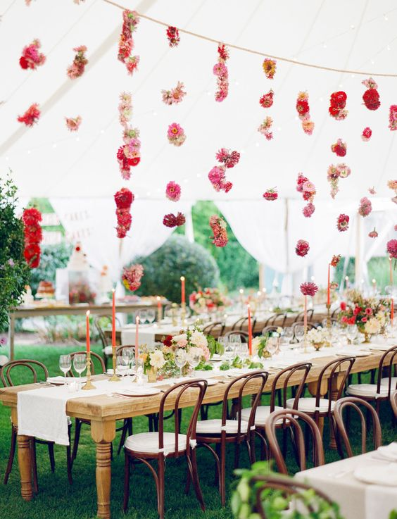 Cafe chairs are a stylish wedding choice.