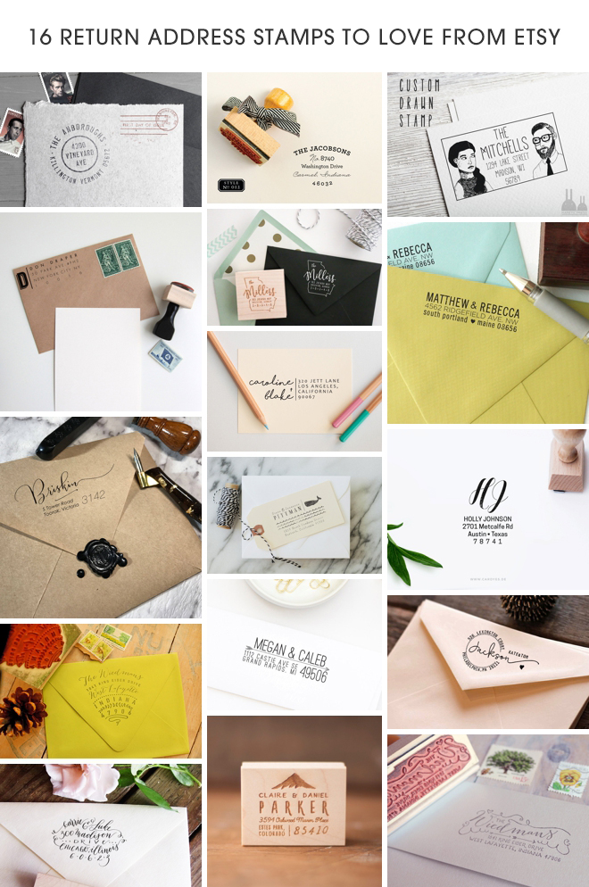 16 custom return address stamps from Etsy that you'll love!