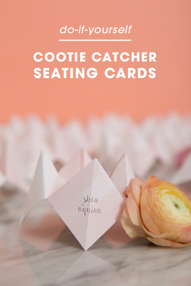 These diy mini cootie catcher seating cards are everything these diy cootie catcher seating cards are the best thing ever solutioingenieria Images