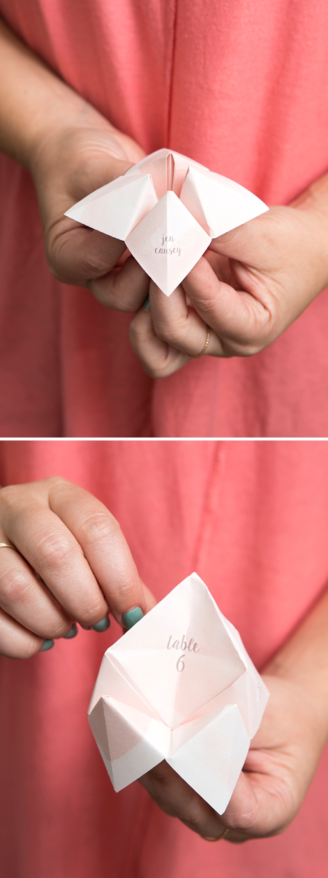 These diy mini cootie catcher seating cards are everything these diy cootie catcher seating cards are the best thing ever jeuxipadfo Choice Image