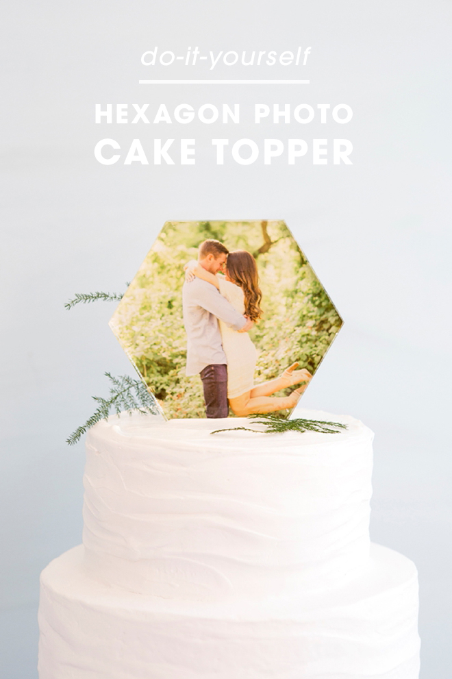 You HAVE To See This DIY Acrylic Hexagon Photo Cake Topper!
