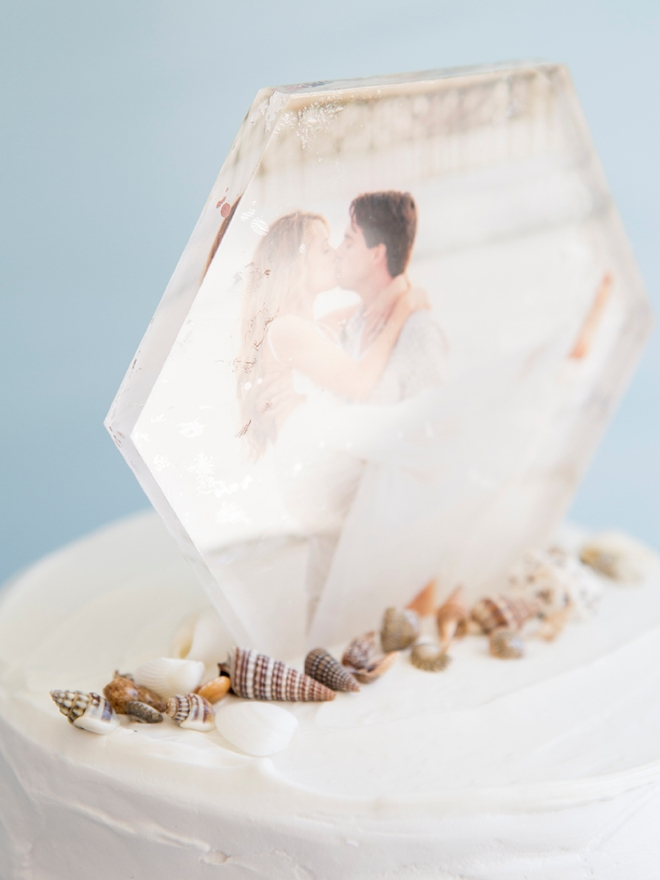 Learn how to make this stunning photo cake topper!