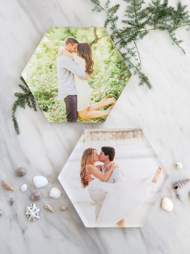 OMG. How adorable are these DIY photo cake toppers!?