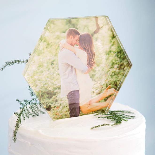Hexagon Cake Acrylic