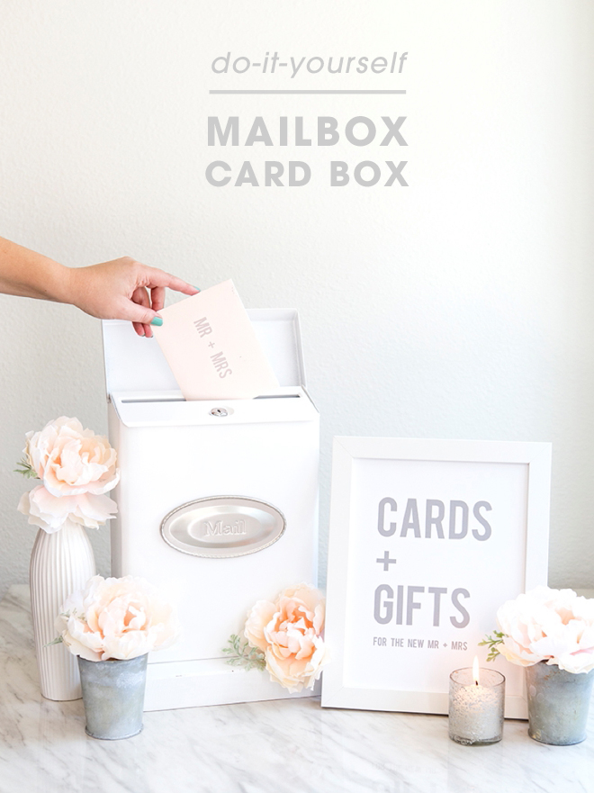 How darling is this DIY mailbox wedding cardbox!?