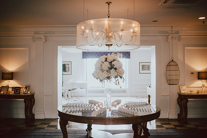 Glam champagne toast for the ceremony!