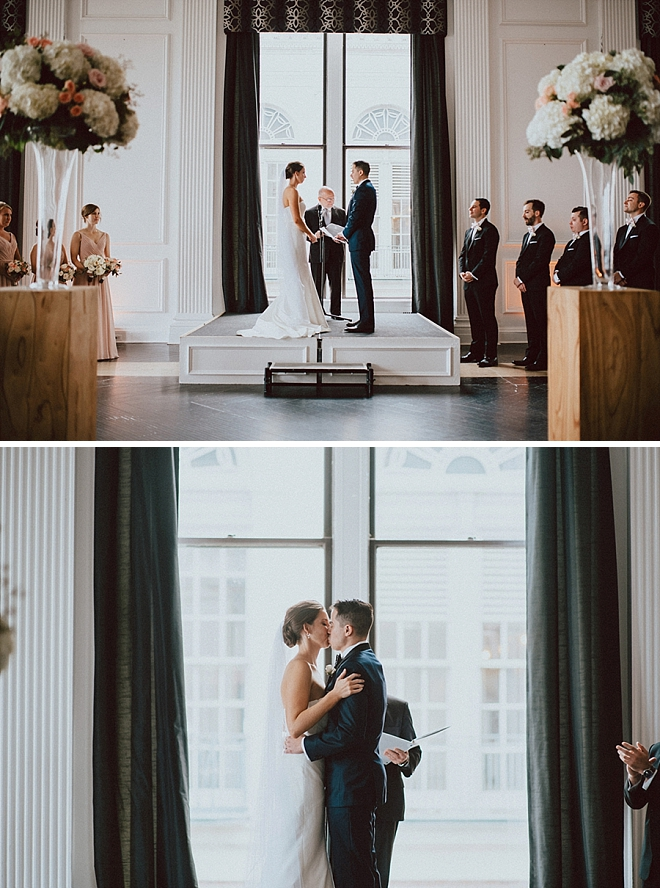 Crushing on this super glam and romantic ceremony!