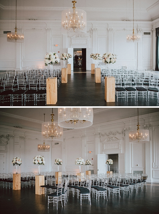 We're in LOVE with this super glam and romantic ceremony set-up!