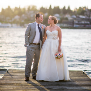 Crushing on this couple's darling nautical wedding day!