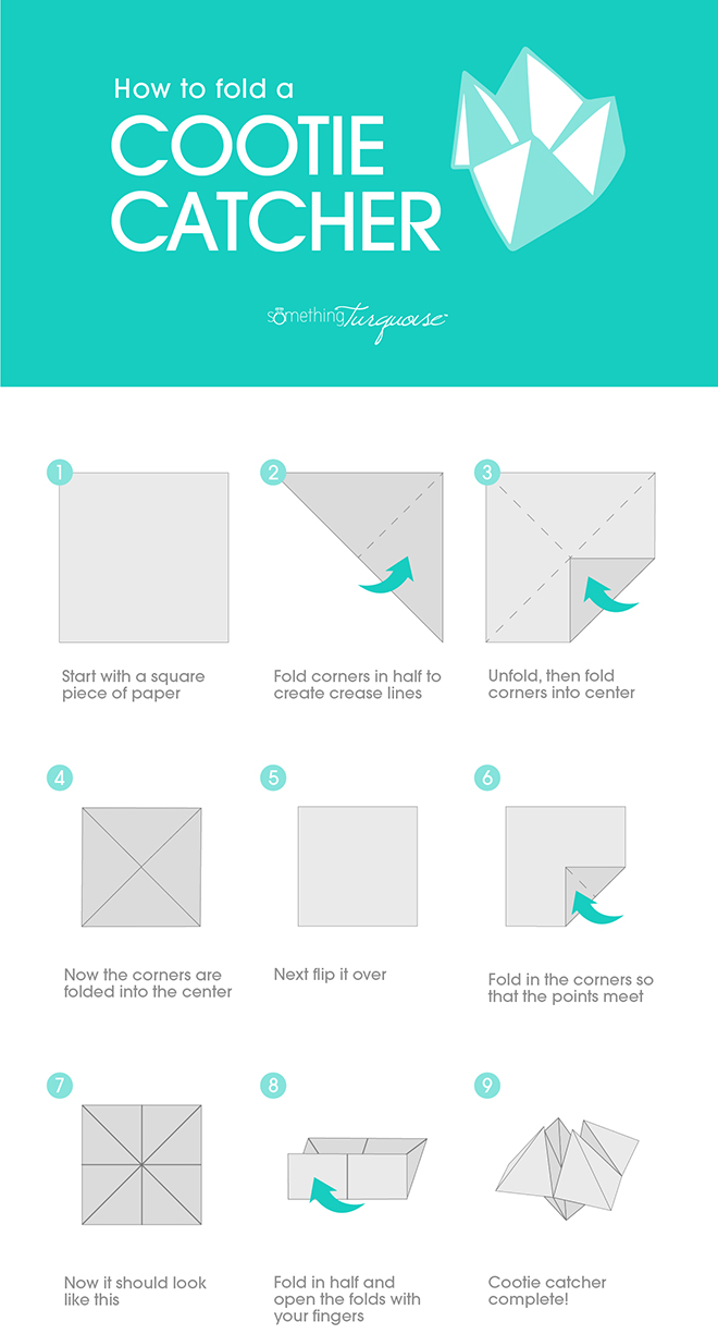How To Fold A Cootie Catcher And Turn It Into Wedding Seating