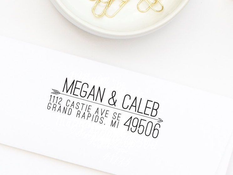 Custom return address stamp from Hello World Stamps