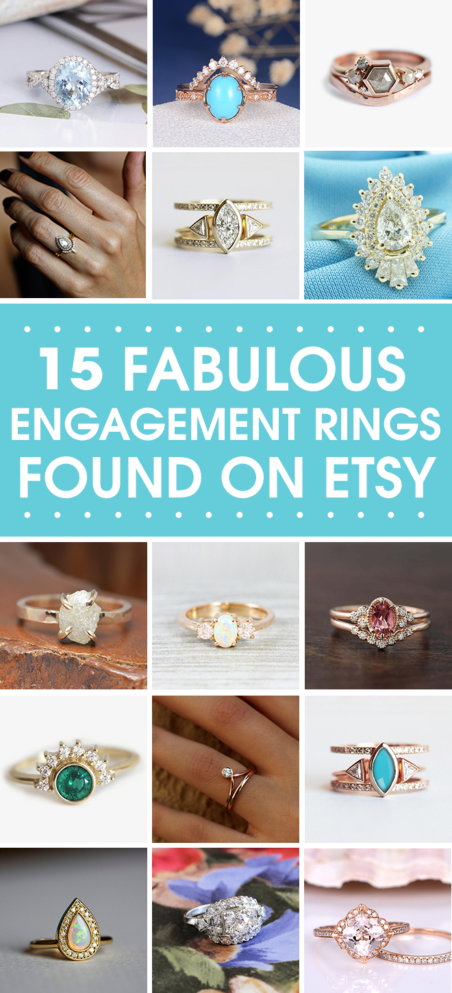 15 Amazing Engagement Rings we found on Etsy