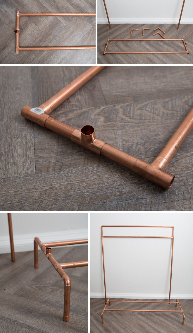 this diy copper pipe wardrobe stand is amazing. Black Bedroom Furniture Sets. Home Design Ideas