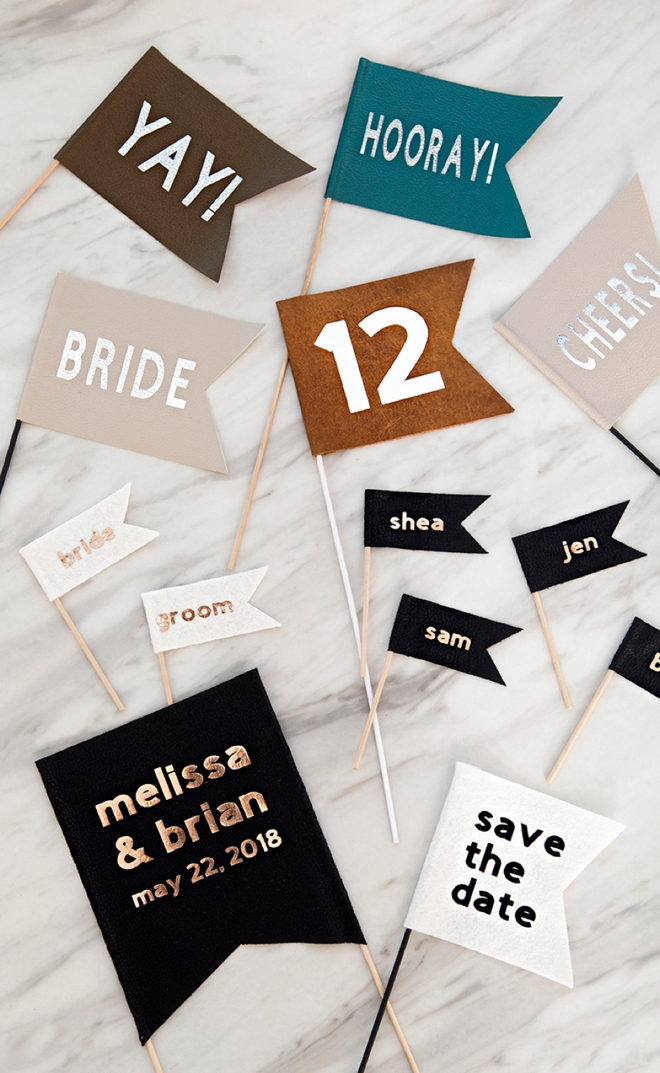 DIY Fabric Wedding Flags With The BRAND NEW Cricut Maker!