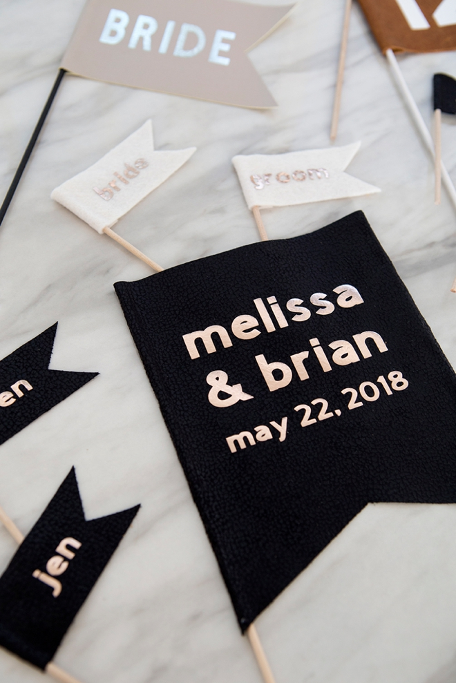 We cut and made all these different fabric flags with our new Cricut Maker!