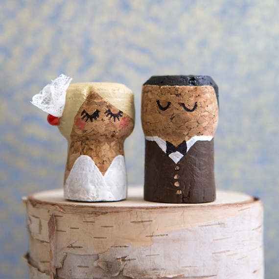 Real Weddings Cork: You HAVE To See These DIY, Painted Champagne Cork Bride