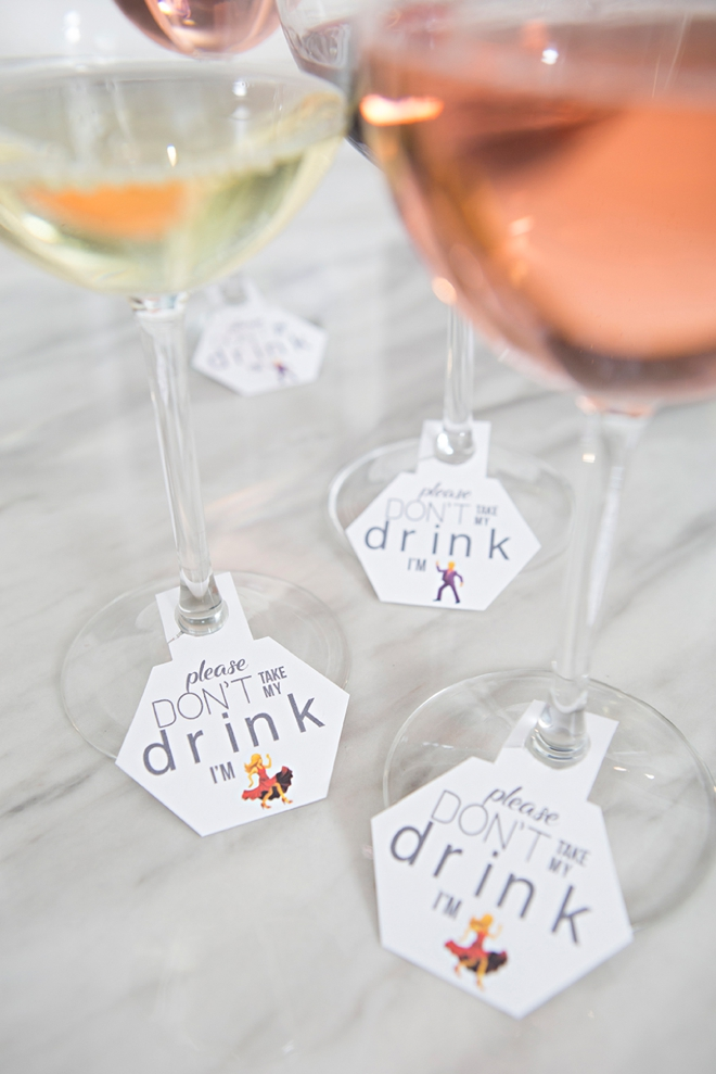 picture about Printable Wine Glass Tags referred to as OMG, These kinds of Do it yourself Wedding day Cocktail Tags Are Course Also Lovable!