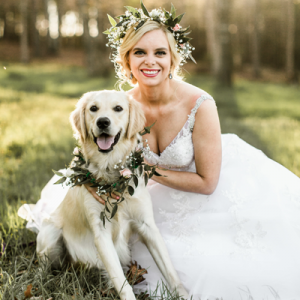 How adorable is this Bridal session filled with flower crowns and this pup!