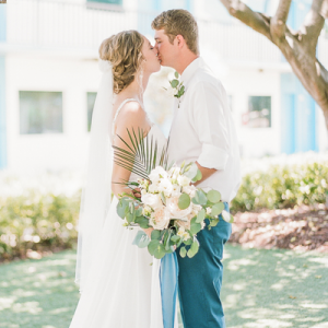 We are swooning over this stunning beach wedding!