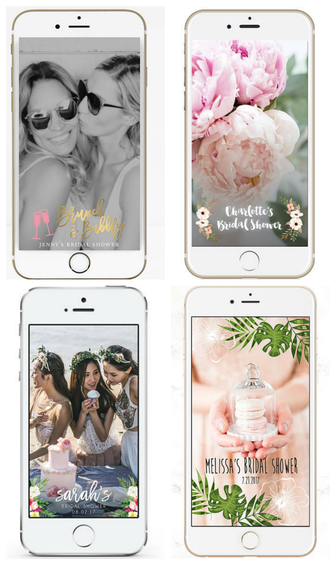 Check Out These Bridal Shower Geofilters from Etsy!
