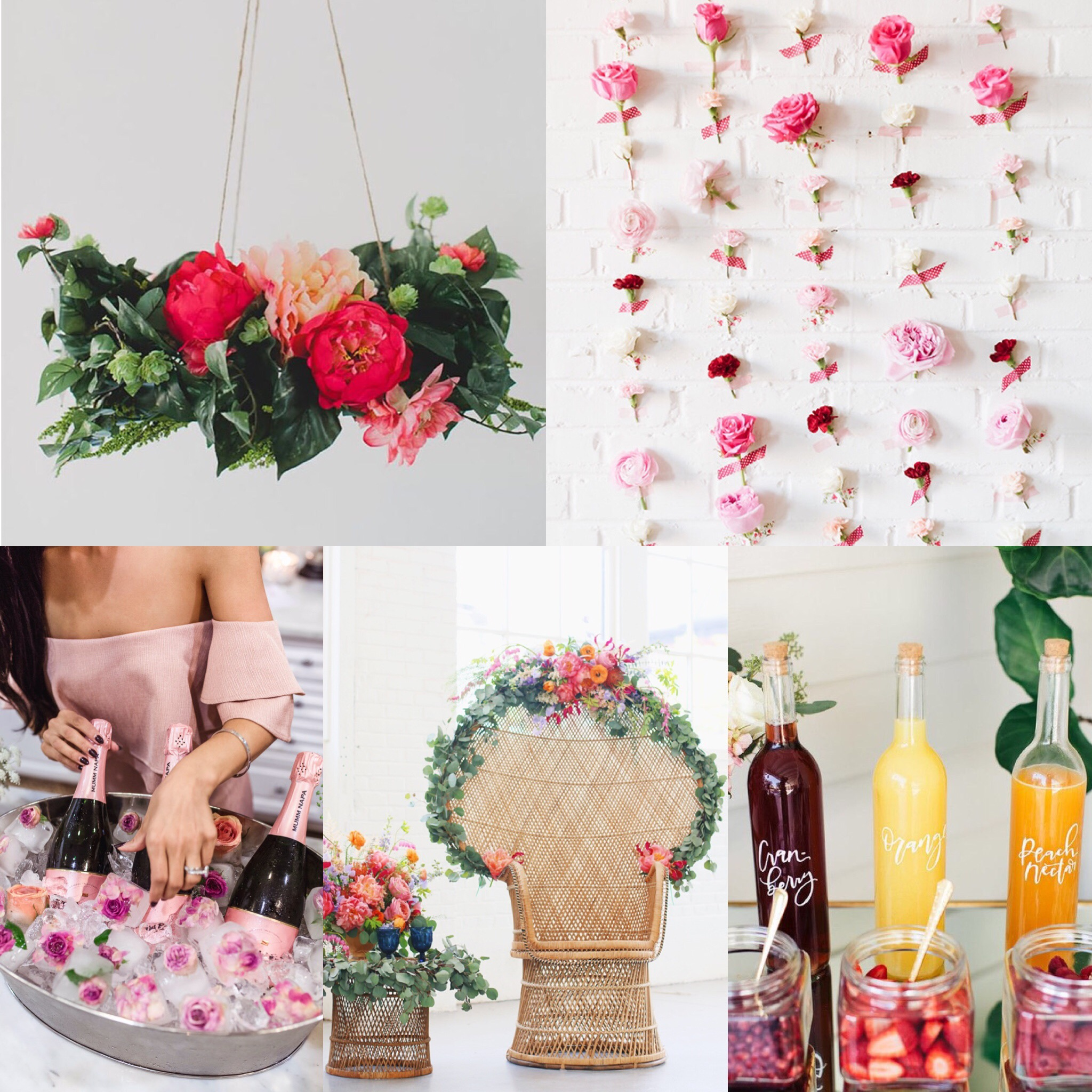 Gorgeous boho floral themed bridal shower inspiration