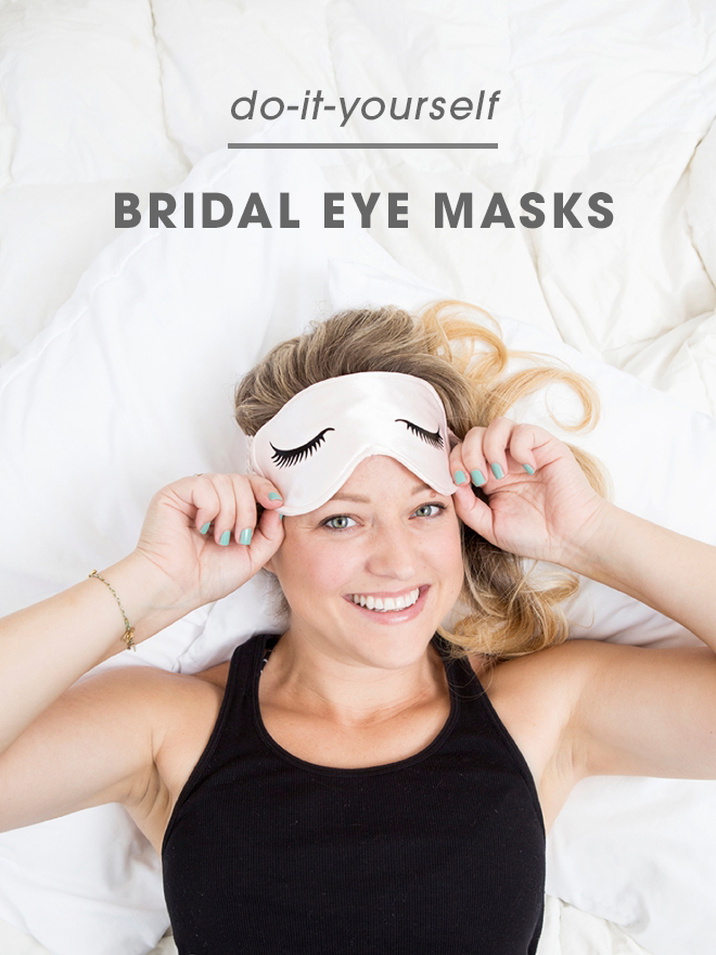 How adorable is this DIY sleep mask with sexy eyelashes!?