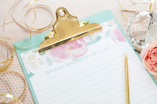 isnt this free printable bridal shower gift list just adorable