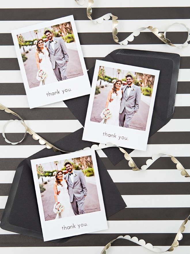 Free DIY! Printable wedding thank you cards.