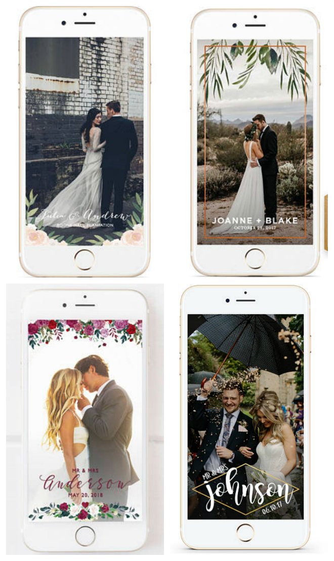Check Out These Wedding Geofilters from Etsy!
