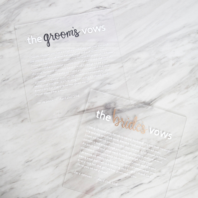 These DIY acrylic vow boards are the best thing I've ever seen!
