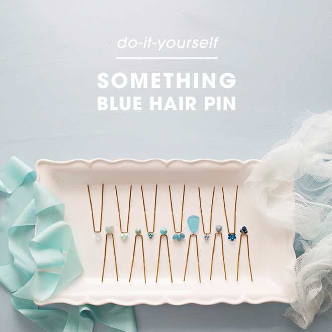 These are the most gorgeous DIY something blue hair pins ever!