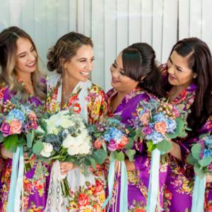 We LOVE this snap of this Bride and her gorgeous bridal party!