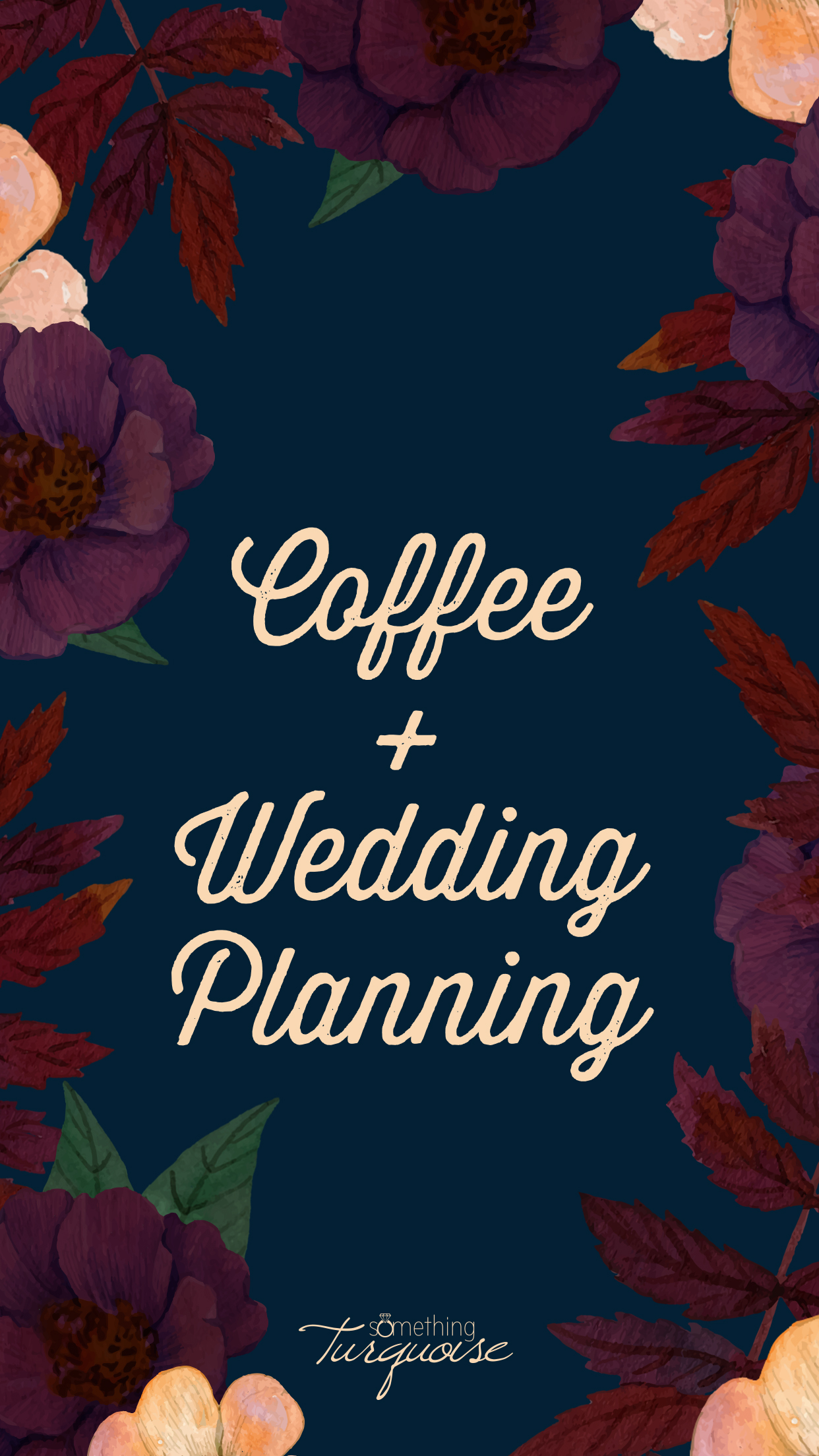 This Coffee and Wedding Planning iPhone wallpaper is SO cute!