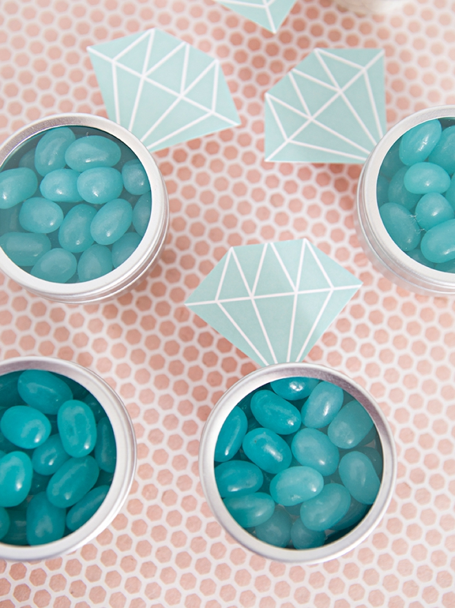 These Diy Diamond Ring Jelly Bean Favors Are The Cutest
