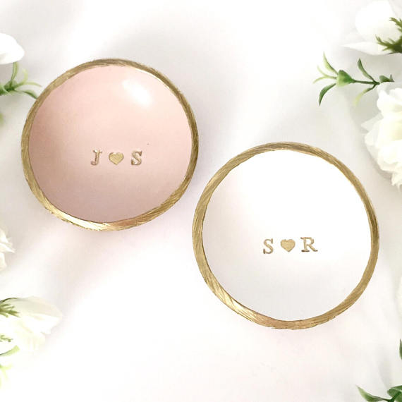We LOVE these gorgeous monogrammed ring dishes!