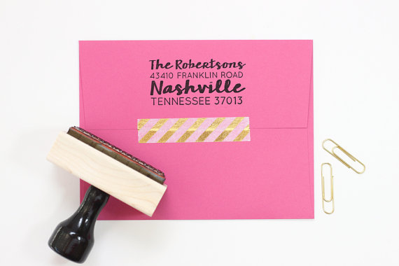 Everyone needs one so why not make it darling!? We love this super cute address stamper!