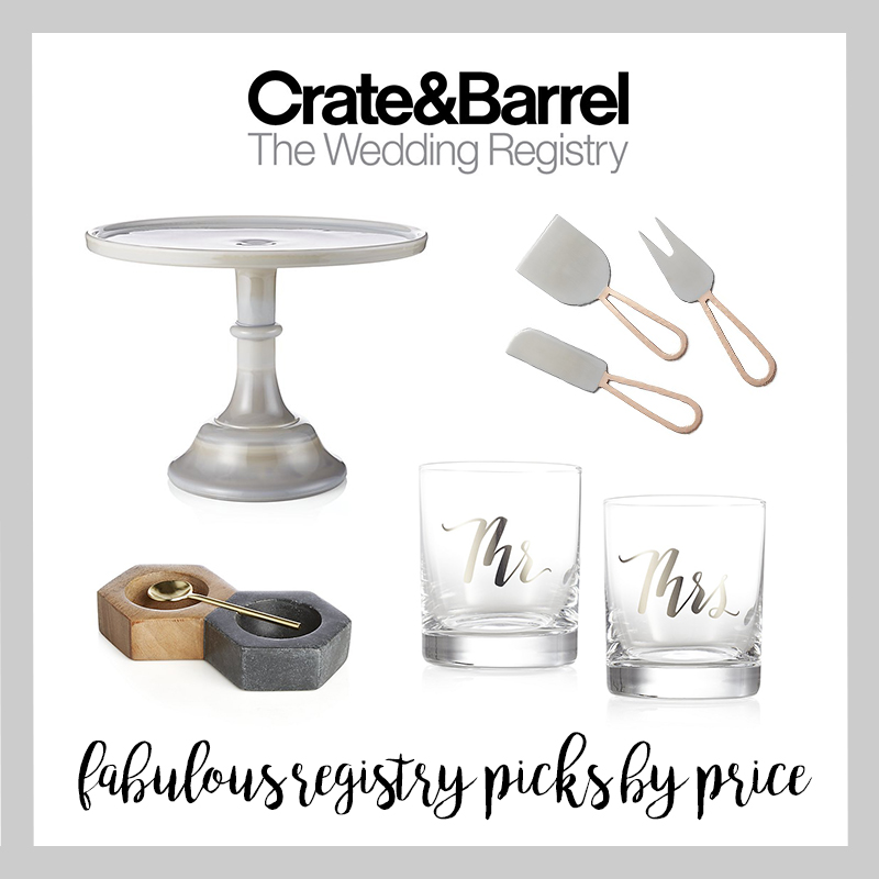 Crate And Barrel Wedding Registry.Top Crate Barrel Registry Picks By Price 25 75 And 150