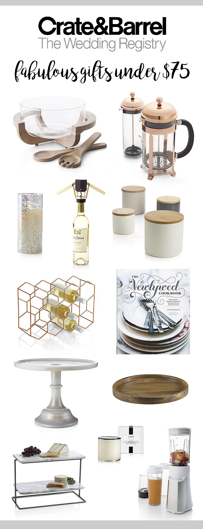 Crate Barrel Wedding Registry.Top Crate Barrel Registry Picks By Price 25 75 And 150