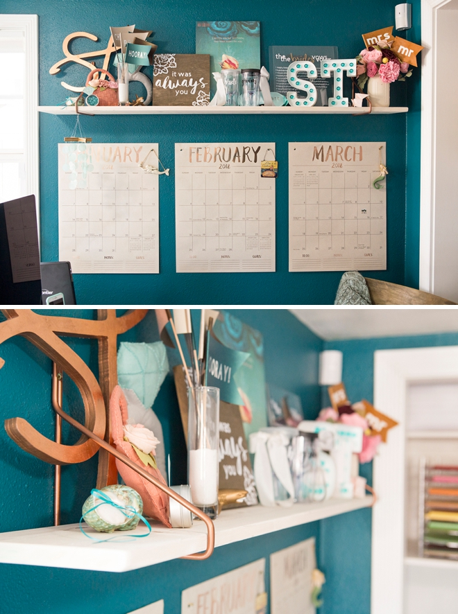 The Something Turquoise new blog office and craft room!