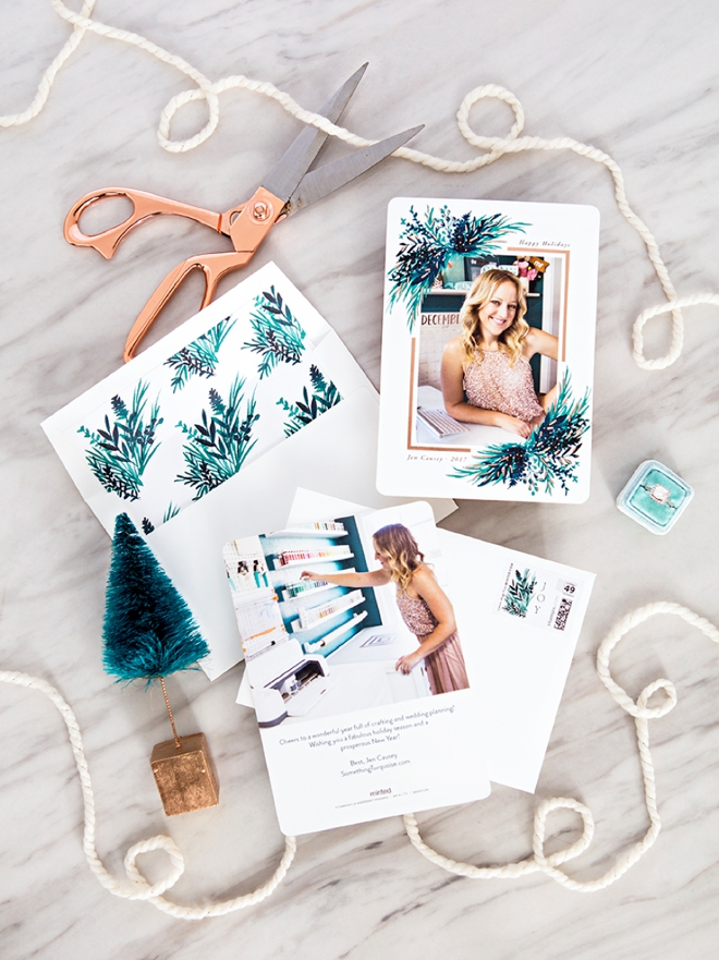 we ordered our holiday cards from minted and they are adorable