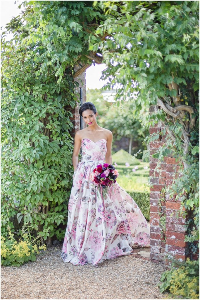 Thinking of a non-traditional wedding dress? This floral gown is a real show-stopper.