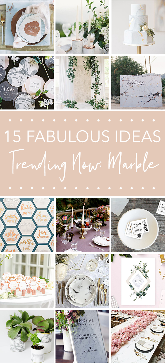 Hot Wedding Trend for 2018: Marble Details