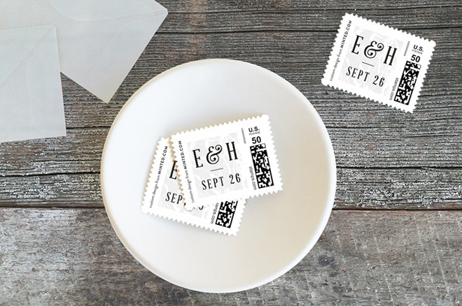 Custom marble stamps add a special touch.