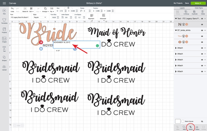 DIY these bridal party shirts with your Cricut Maker!