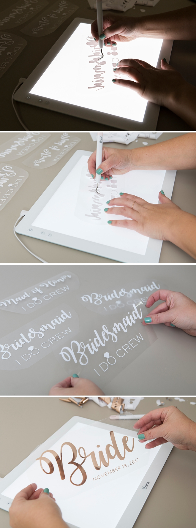 Weed your Cricut Iron-on designs over the Cricut BrightPad!
