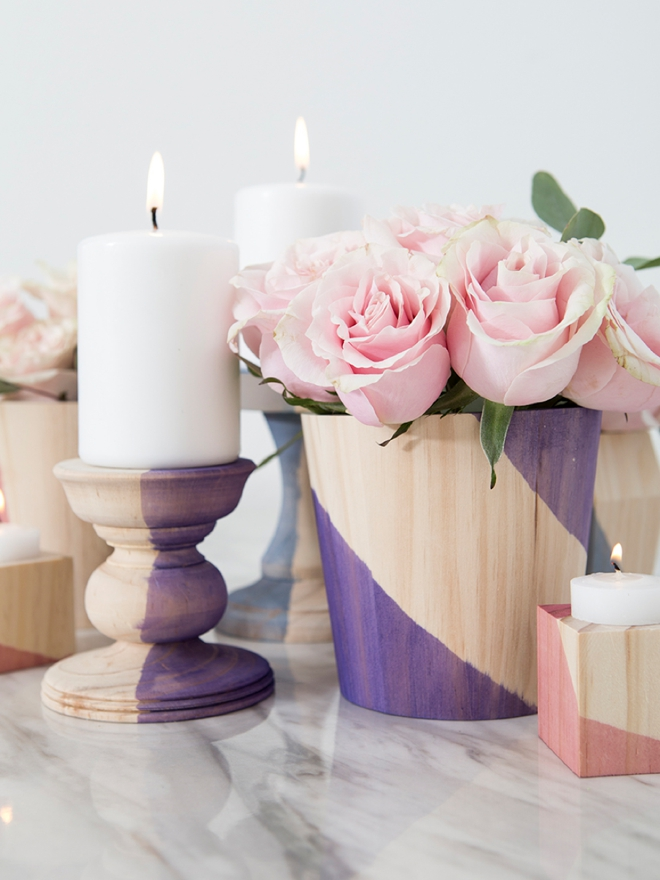 How to make your own dip-dyed wood wedding decor!