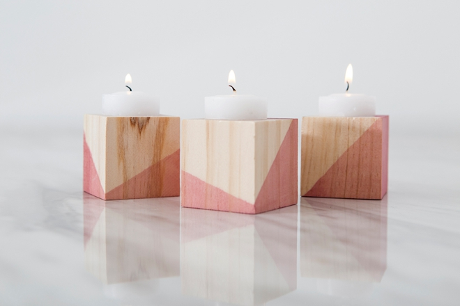 How to make your own dip-dyed candle holders!