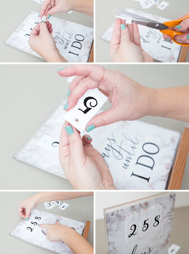 This free printable Days Until I DO Sign is the cutest!