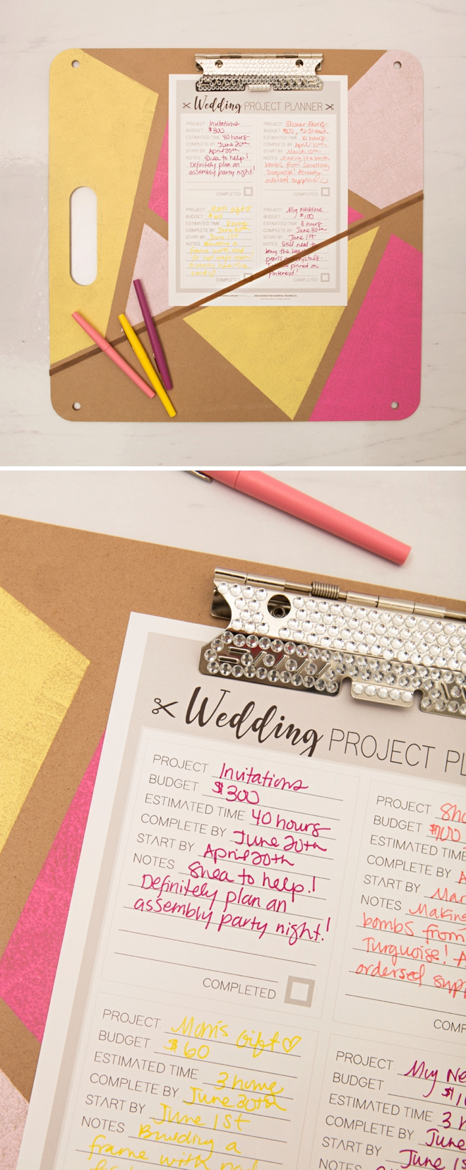 diy wedding project planning with oriental trading
