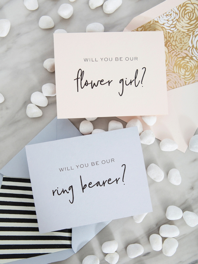Will you be our ring bearer and flower girl, free printable cards!